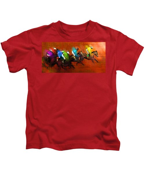 Horses Racing 01 Kids T-Shirt