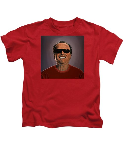 Jack Nicholson 2 Kids T-Shirt by Paul Meijering