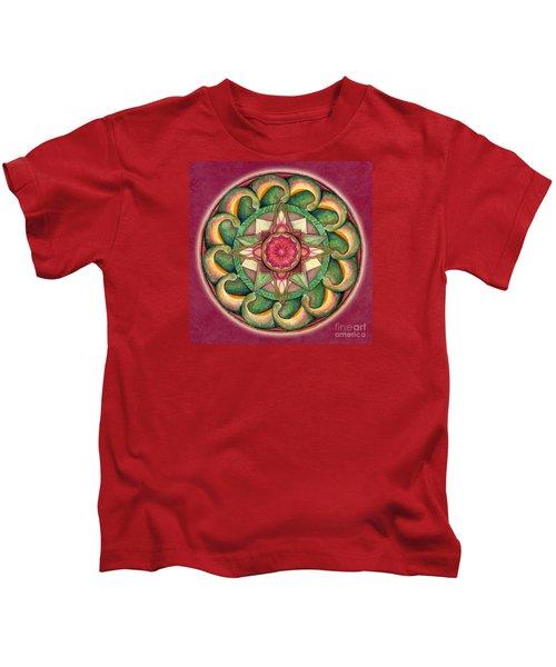Jewel Of The Heart Mandala Kids T-Shirt