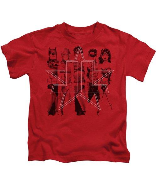 Jla - Five Stars Kids T-Shirt