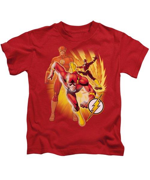Jla - Flash Collage Kids T-Shirt