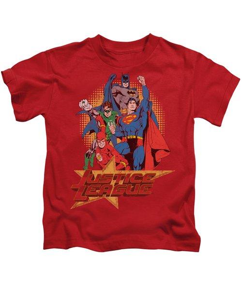Jla - Raise Your Fist Kids T-Shirt