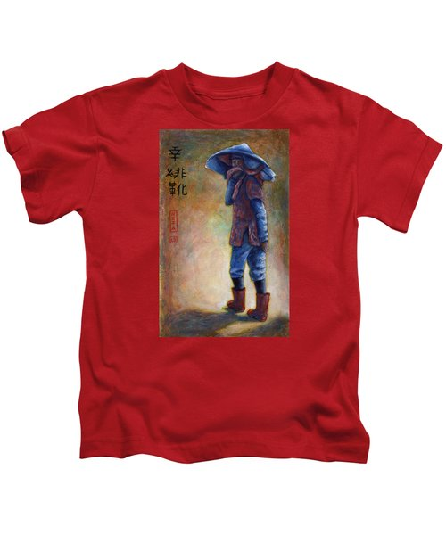 Lucky Red Boots Kids T-Shirt