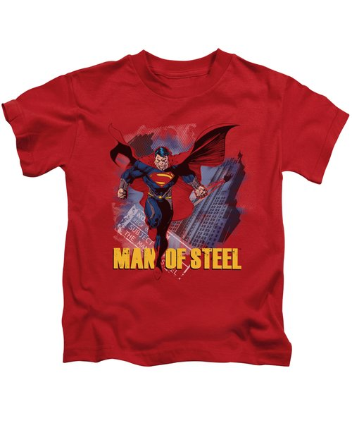 Man Of Steel - Fly By Kids T-Shirt