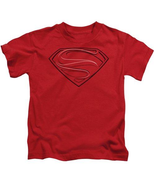 Man Of Steel - Glph Lines Kids T-Shirt