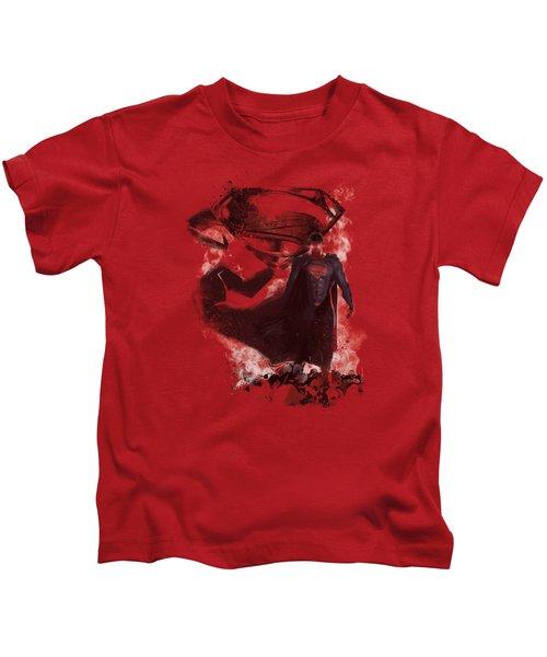 Man Of Steel - Head Walking Kids T-Shirt