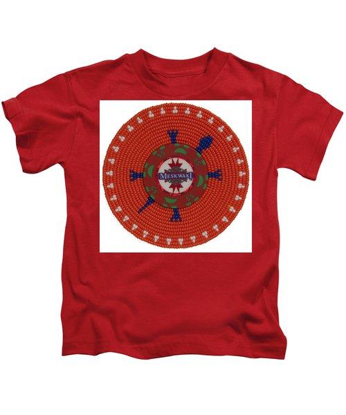 Meskwaki Orange Kids T-Shirt