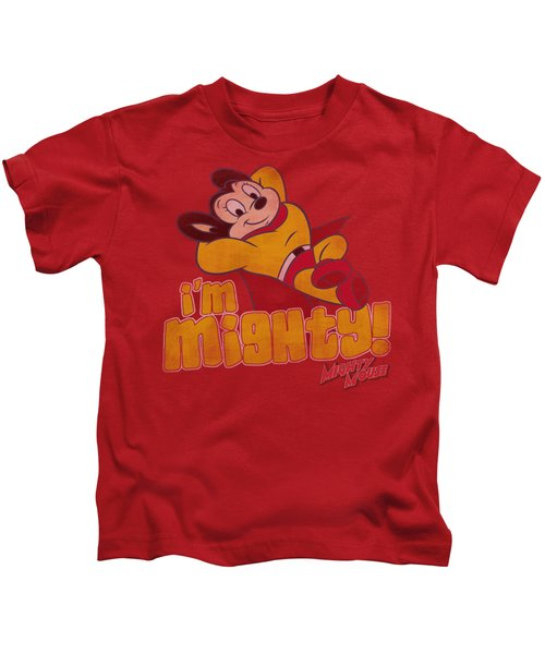Mighty Mouse - I'm Mighty Kids T-Shirt by Brand A