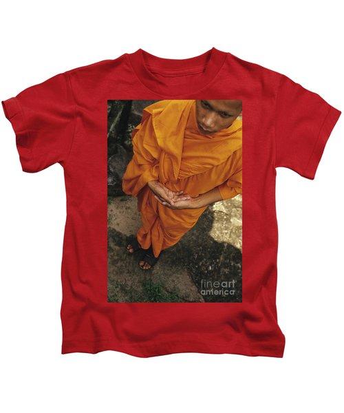 Monk In Saffron Robes Cambodia Kids T-Shirt