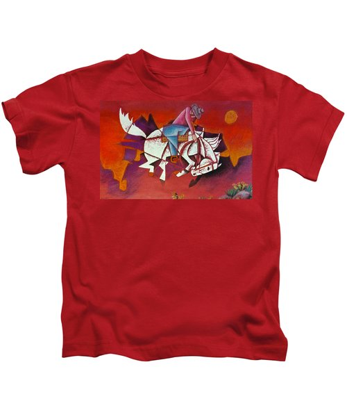 Moonlight Ride Kids T-Shirt