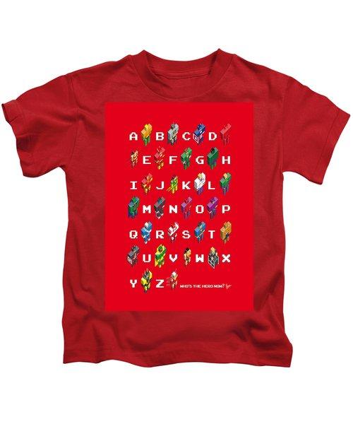 My Super Abc Minimal Poster Kids T-Shirt