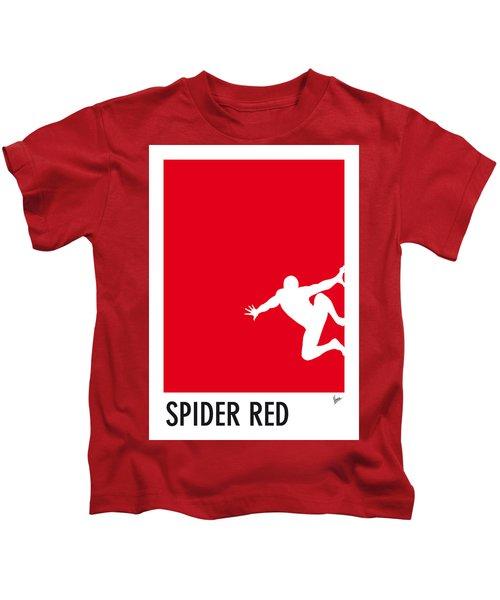 My Superhero 04 Spider Red Minimal Poster Kids T-Shirt