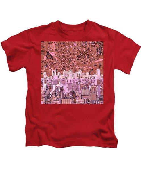 Nashville Skyline Abstract 7 Kids T-Shirt