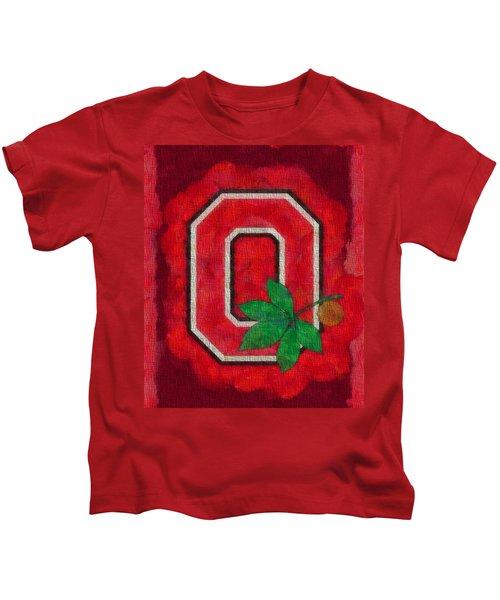 Ohio State Buckeyes On Canvas Kids T-Shirt