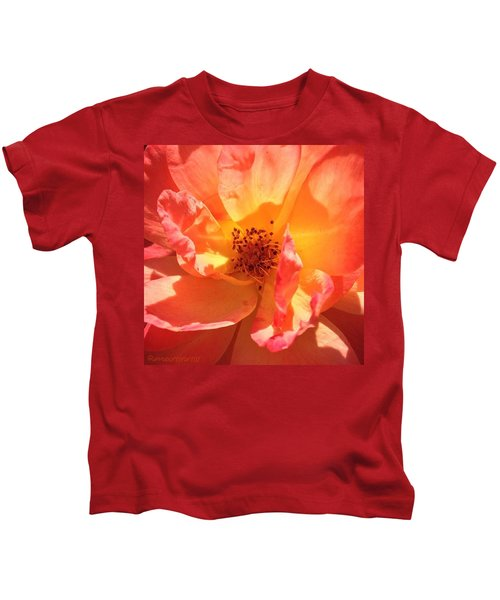 Orange Confection Rose Kids T-Shirt