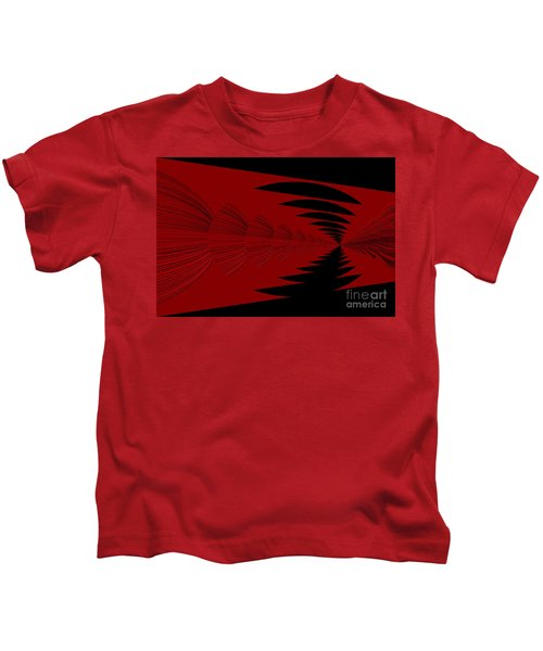 Red And Black Design Kids T-Shirt