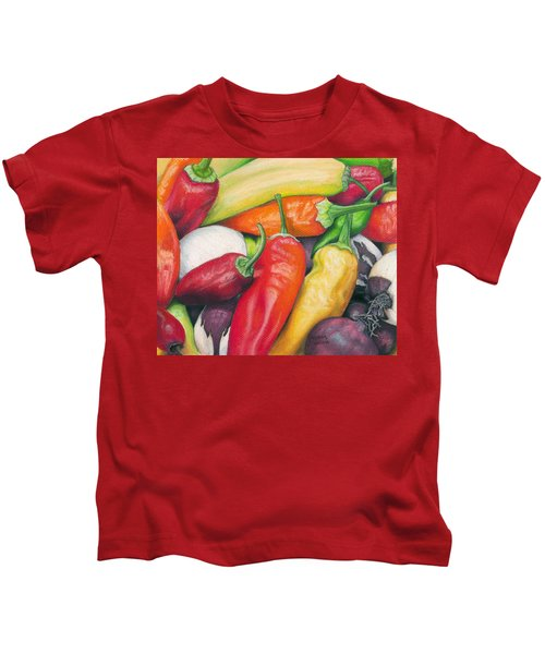 Peppers And Onions Kids T-Shirt