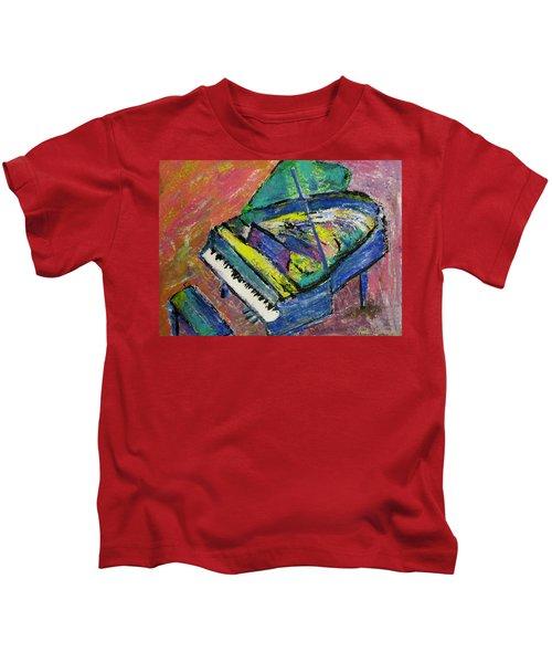 Piano Blue Kids T-Shirt