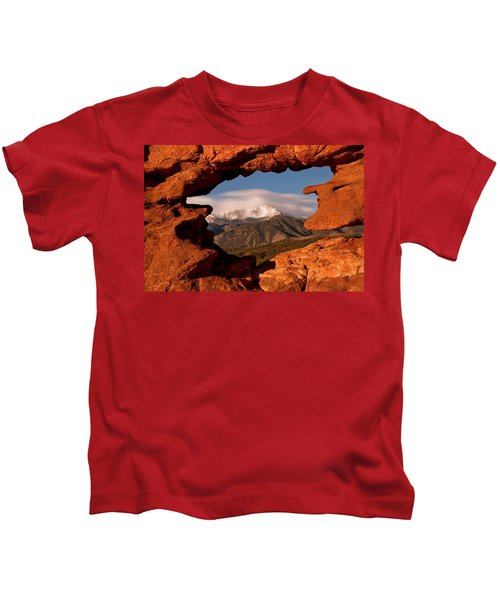 Pikes Peak Framed Kids T-Shirt