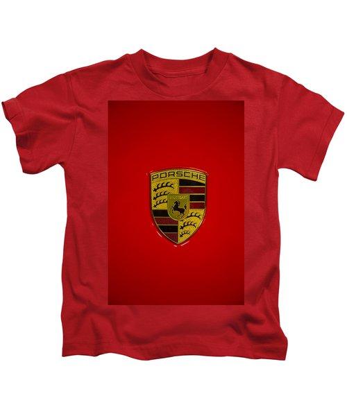 Porsche Emblem Red Hood Kids T-Shirt