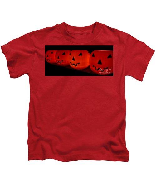 Pumpkins Lined Up Kids T-Shirt