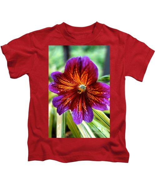 Purple And Orange Kids T-Shirt