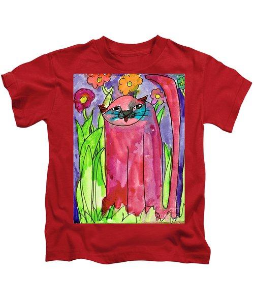 Red Cat Kids T-Shirt