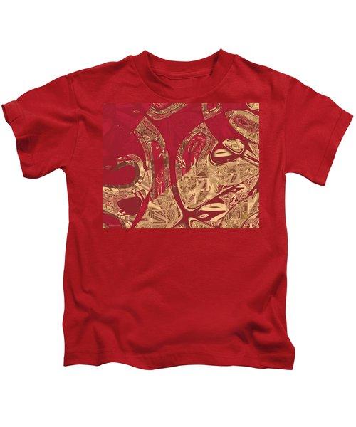 Red Geranium Abstract Kids T-Shirt