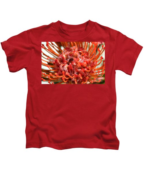 Red Pincushion Close Up Kids T-Shirt