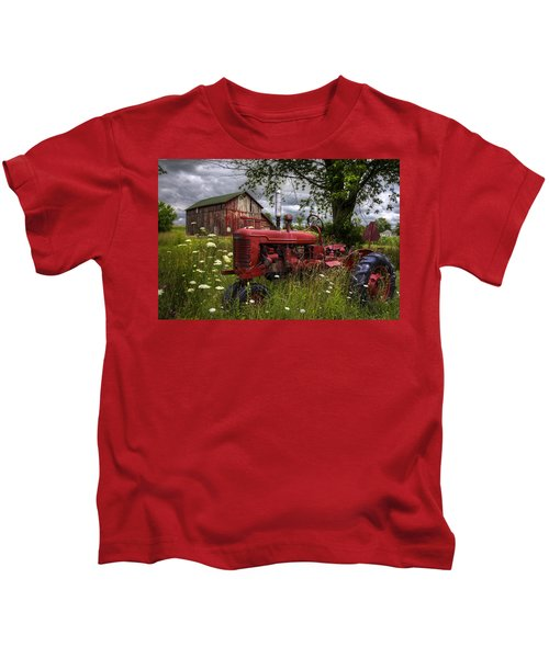 Reds In The Pasture Kids T-Shirt