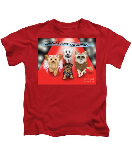 Rescues Rock The Runway Kids T-Shirt