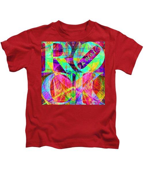 Rock And Roll 20130708 Fractal Kids T-Shirt