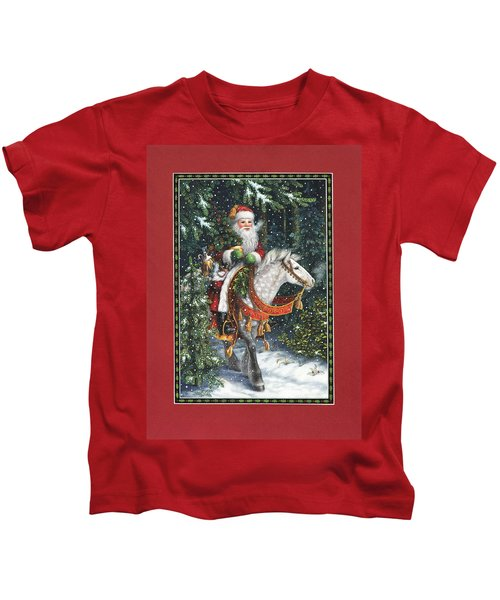 Santa Of The Northern Forest Kids T-Shirt