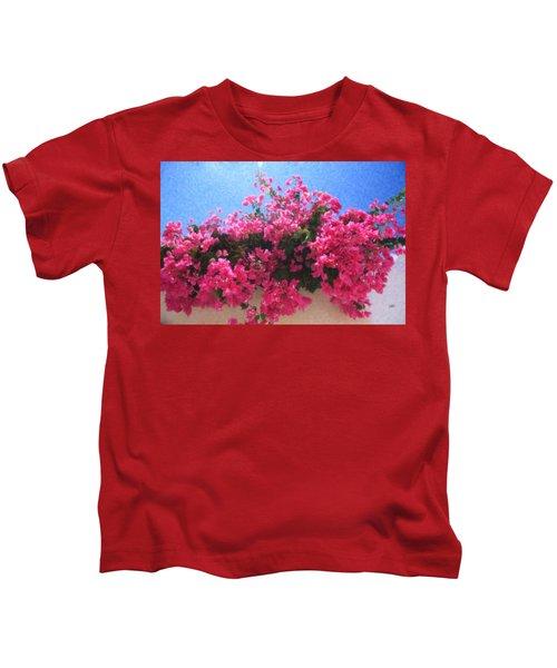 Santorini Flowers Grk1113 Kids T-Shirt