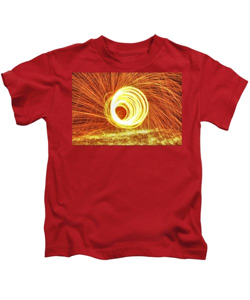 Shooting Sparks Kids T-Shirt by Dan Sproul