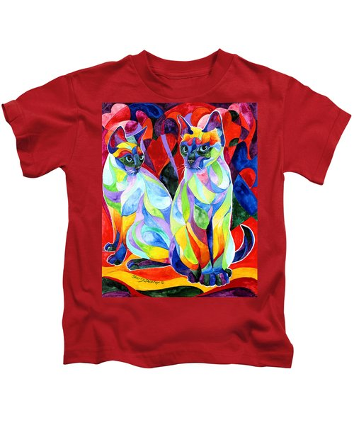 Siamese Sweethearts Kids T-Shirt