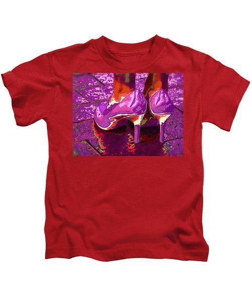 Standing In The Purple Rain Kids T-Shirt
