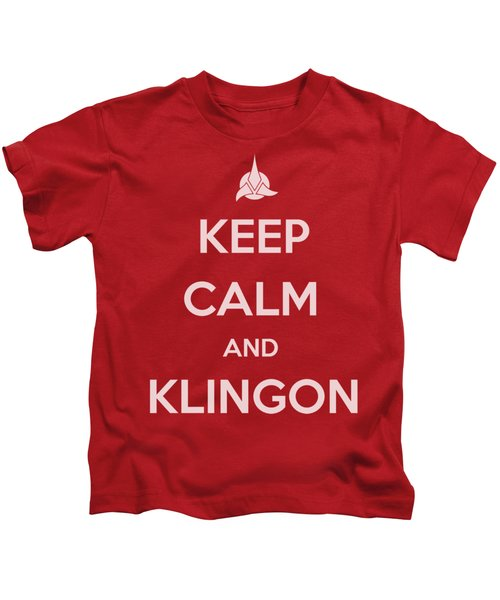 Star Trek - Calm Klingon Kids T-Shirt