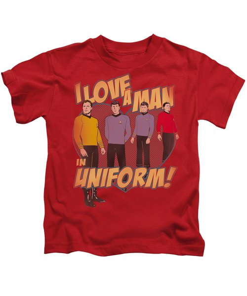 Star Trek - Man In Uniform Kids T-Shirt