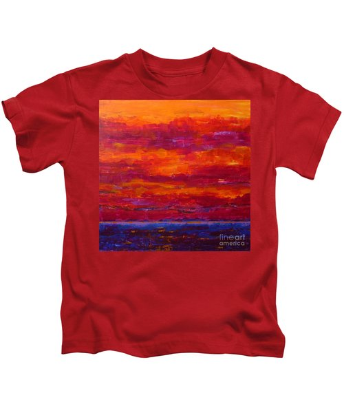 Storm Clouds Sunset Kids T-Shirt