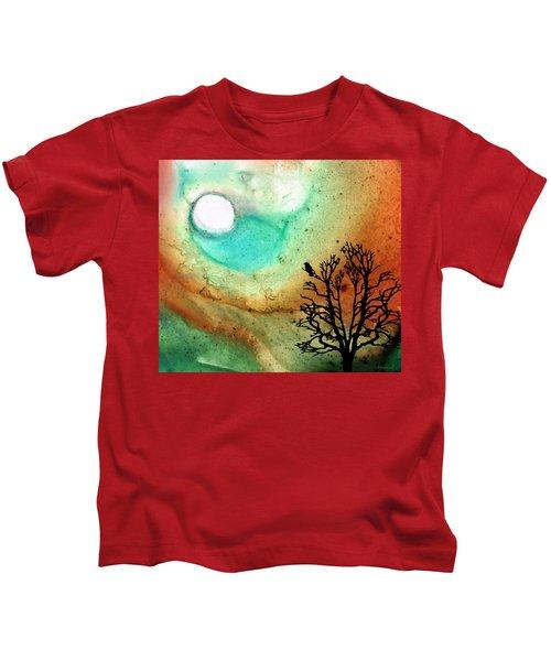 Summer Moon - Landscape Art By Sharon Cummings Kids T-Shirt