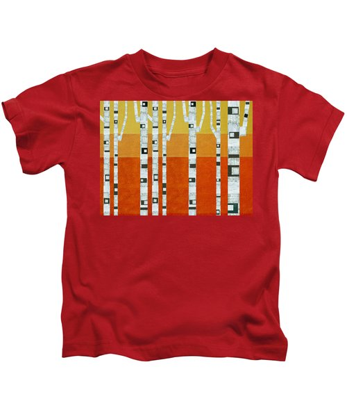 Sunset Birches Kids T-Shirt