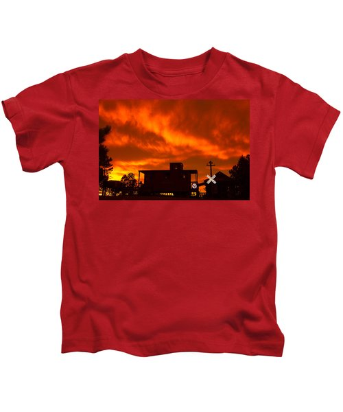 Sunset Caboose Kids T-Shirt