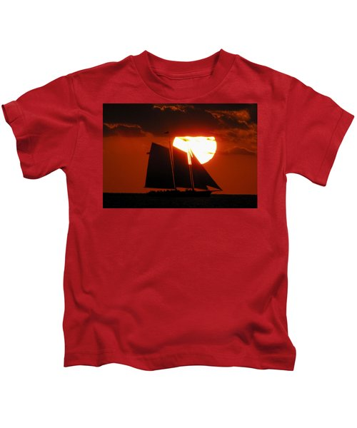 Key West Sunset Sail 5 Kids T-Shirt