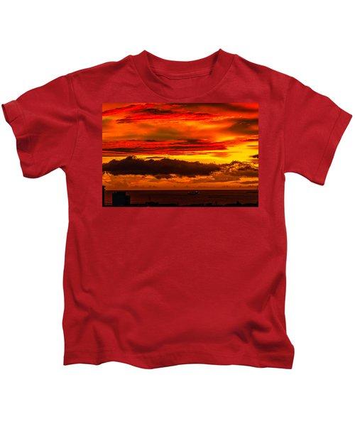 Sunset Wow2 Kids T-Shirt