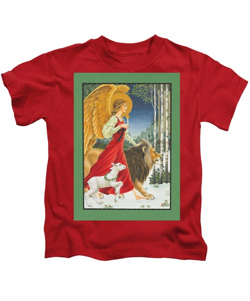 The Angel The Lion And The Lamb Kids T-Shirt