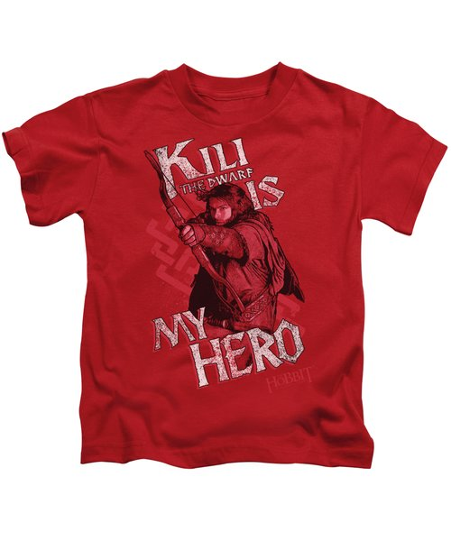 The Hobbit - Kili Is My Hero Kids T-Shirt