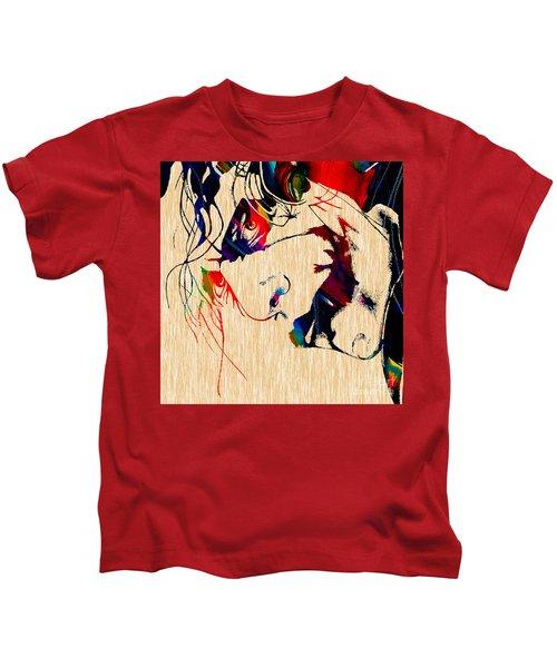 The Joker Heath Ledger Collection Kids T-Shirt by Marvin Blaine