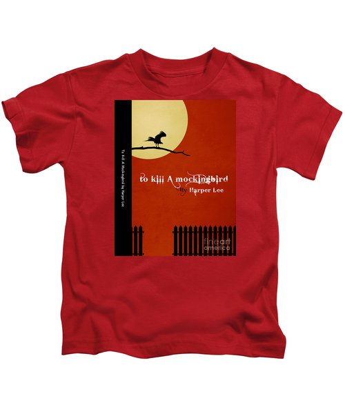 To Kill A Mockingbird Book Cover Movie Poster Art 1 Kids T-Shirt by Nishanth Gopinathan