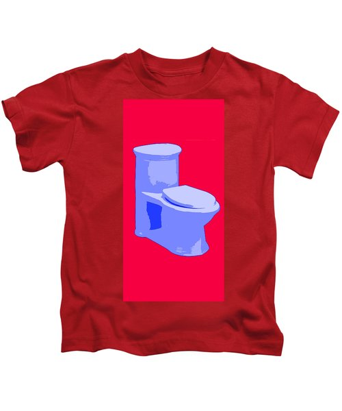 Toilette In Blue Kids T-Shirt
